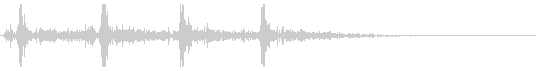 シャン×4回(鈴の音・4回・広がりあり)の未再生の波形