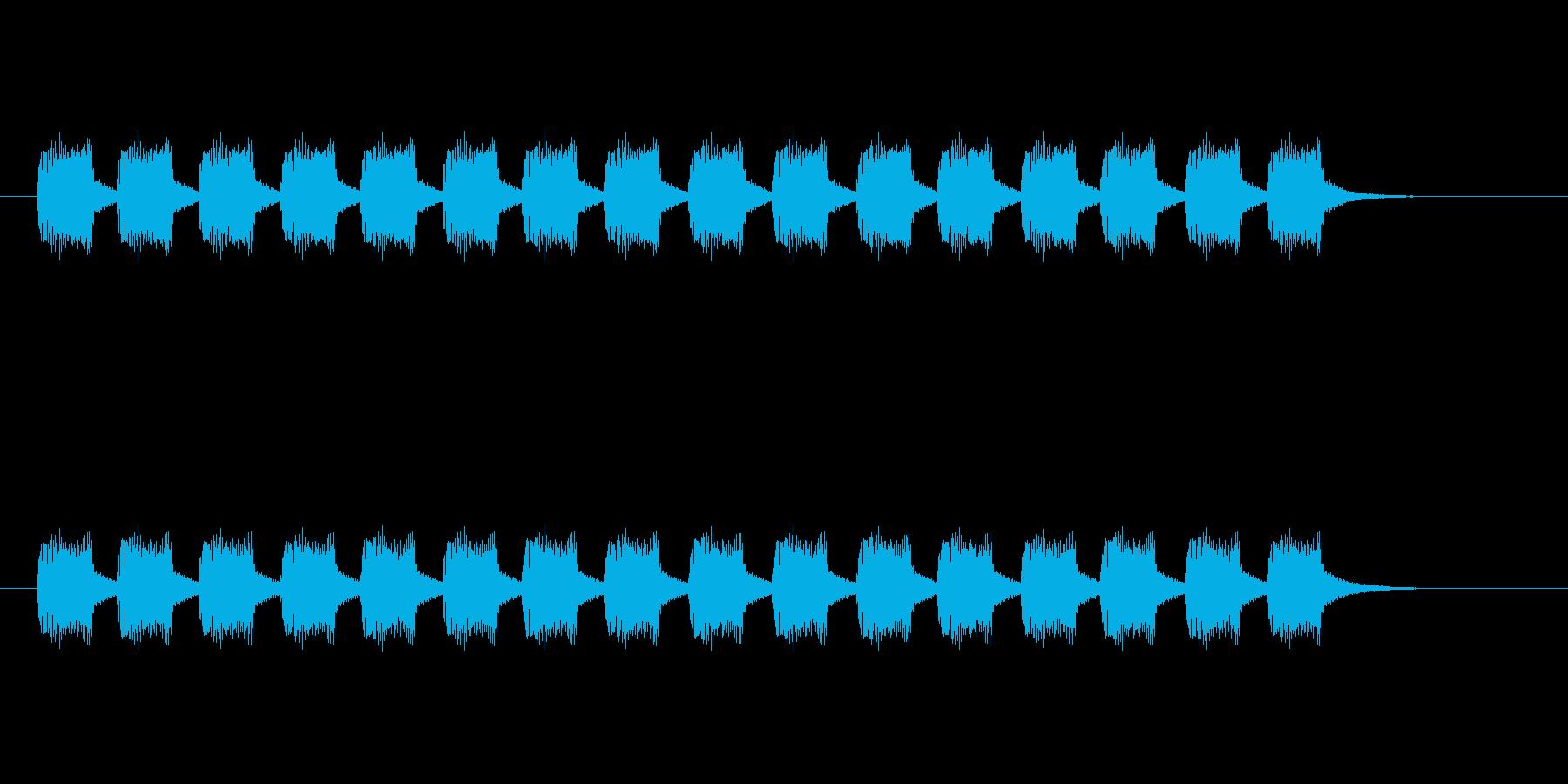 ブーブーブーの再生済みの波形