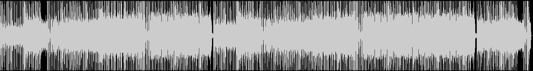 グルーヴィーなリズムとギターリフの未再生の波形