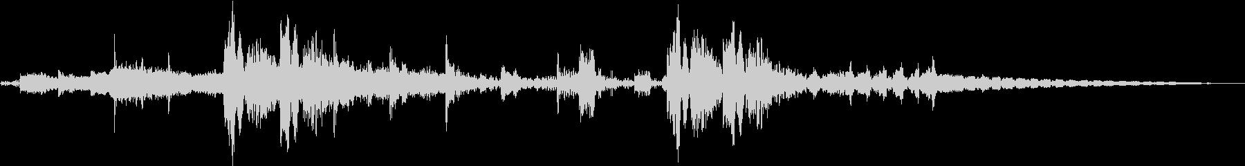 シンセFXと心音のジングル Bパターンの未再生の波形