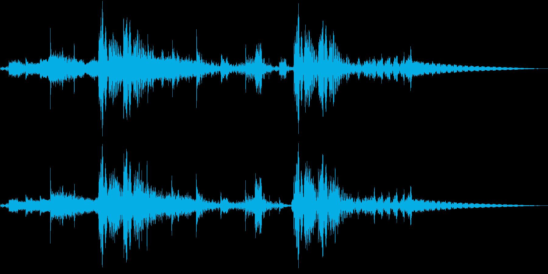 シンセFXと心音のジングル Bパターンの再生済みの波形