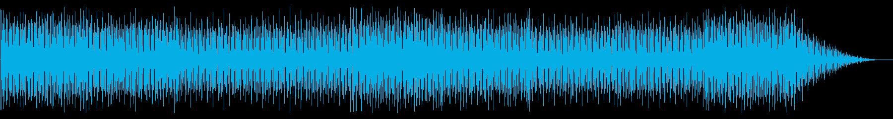 キラキラな明るいハウス系4つ打ちBGMの再生済みの波形