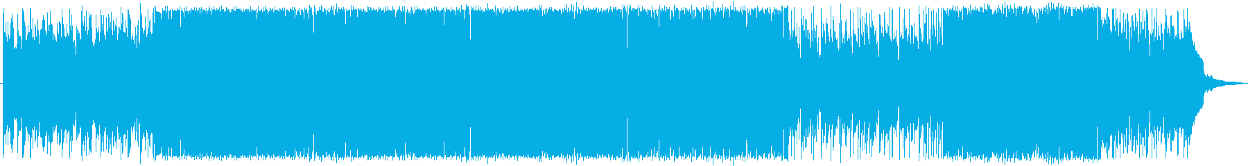 ゲームのエンドロールにぴったりの曲の再生済みの波形