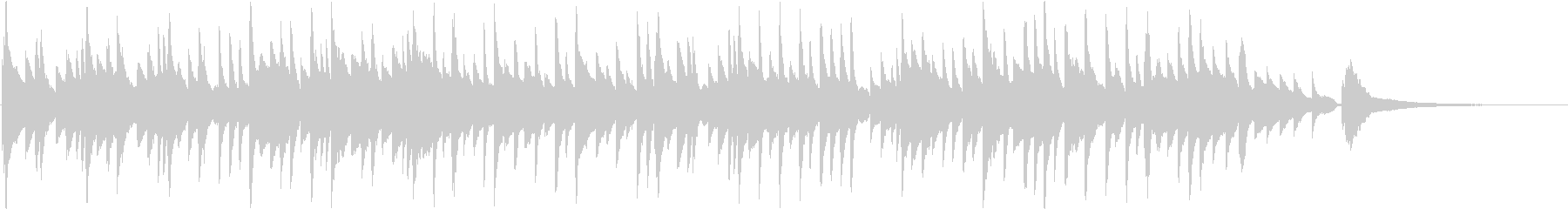 綺麗な高域が特徴のピアノ曲。スローテンポの未再生の波形