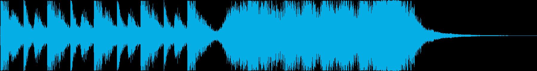 予告編/トレーラー*打つ音→打楽器*の再生済みの波形