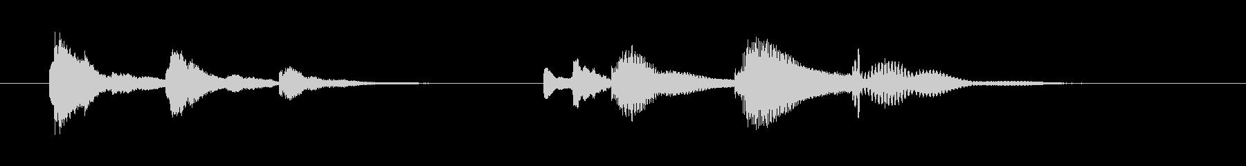 マリンバを使った短いジングルの未再生の波形
