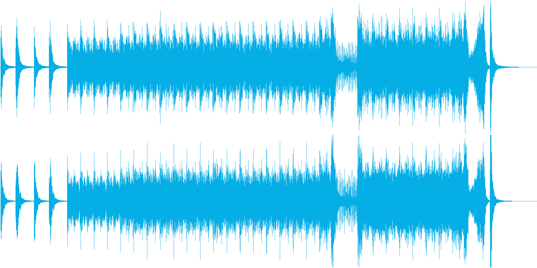 和太鼓と琴の力強い和風曲の再生済みの波形