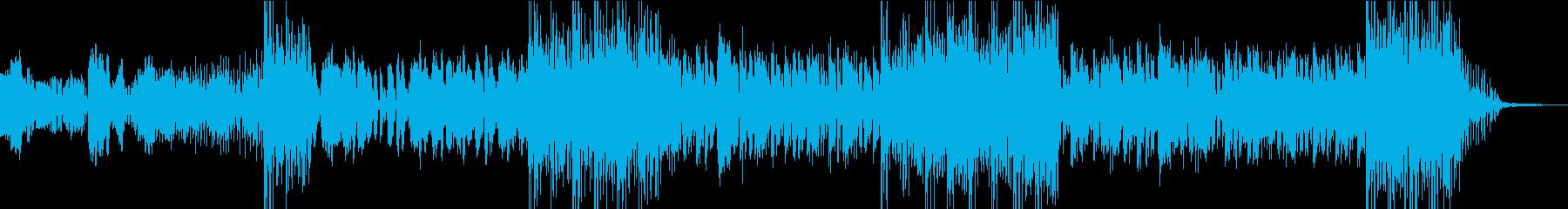サックス中心のビートの効いたアンサンブルの再生済みの波形