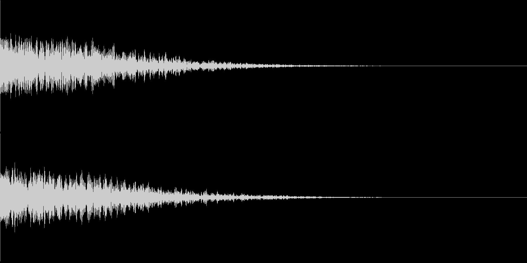 違和感、不穏、不気味な不協和音-C4の未再生の波形