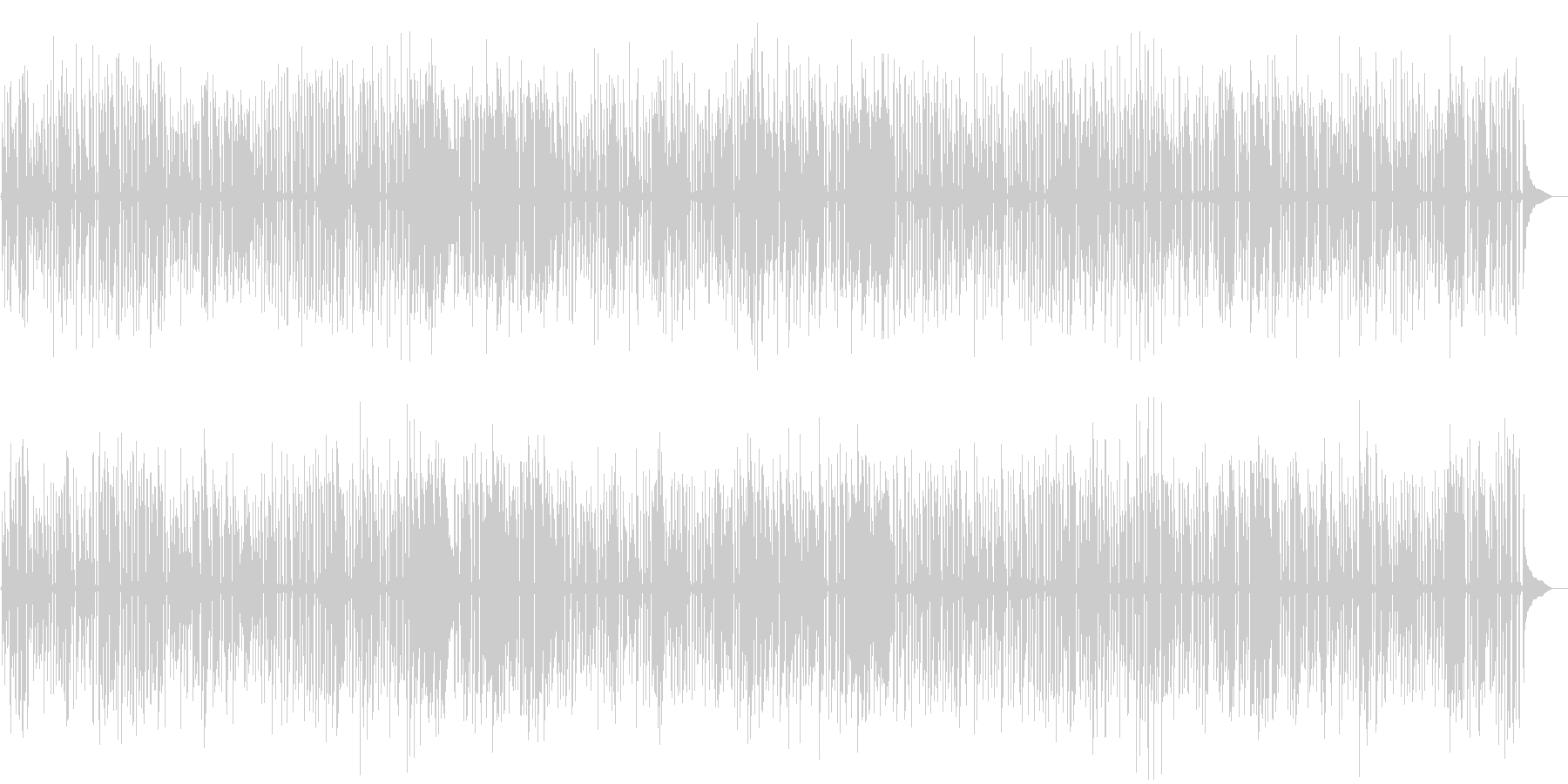 YouTube、おしゃれソロピアノジャズの未再生の波形