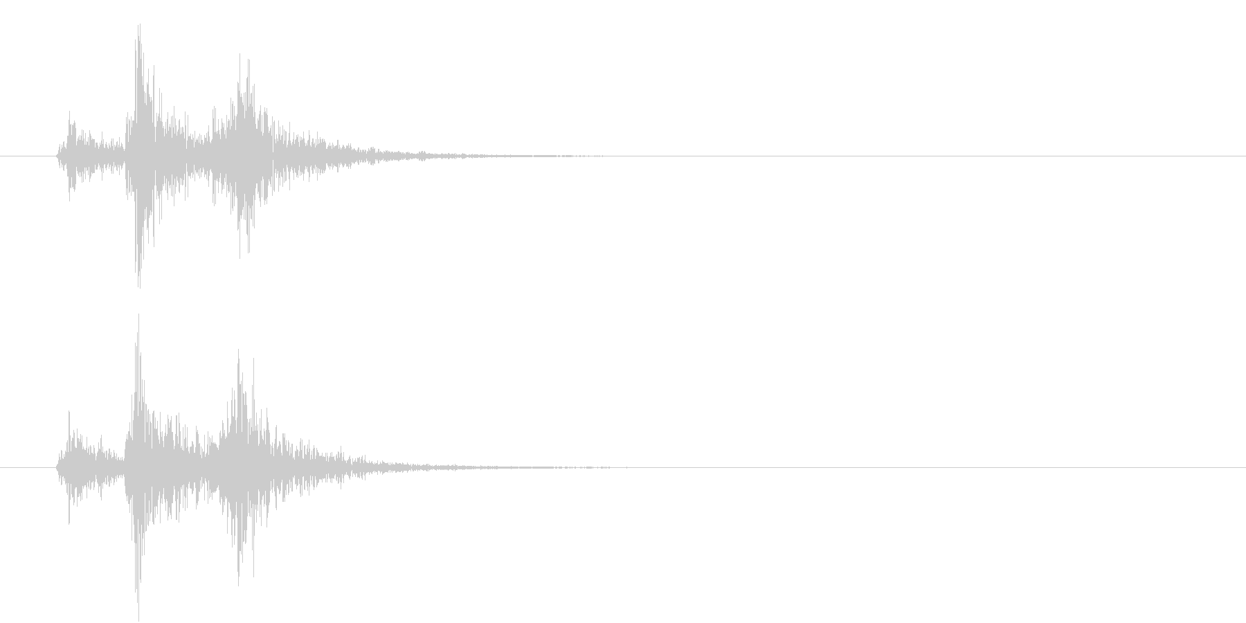 音侍「ドドドン!」歌舞伎の足拍子の連打音の未再生の波形