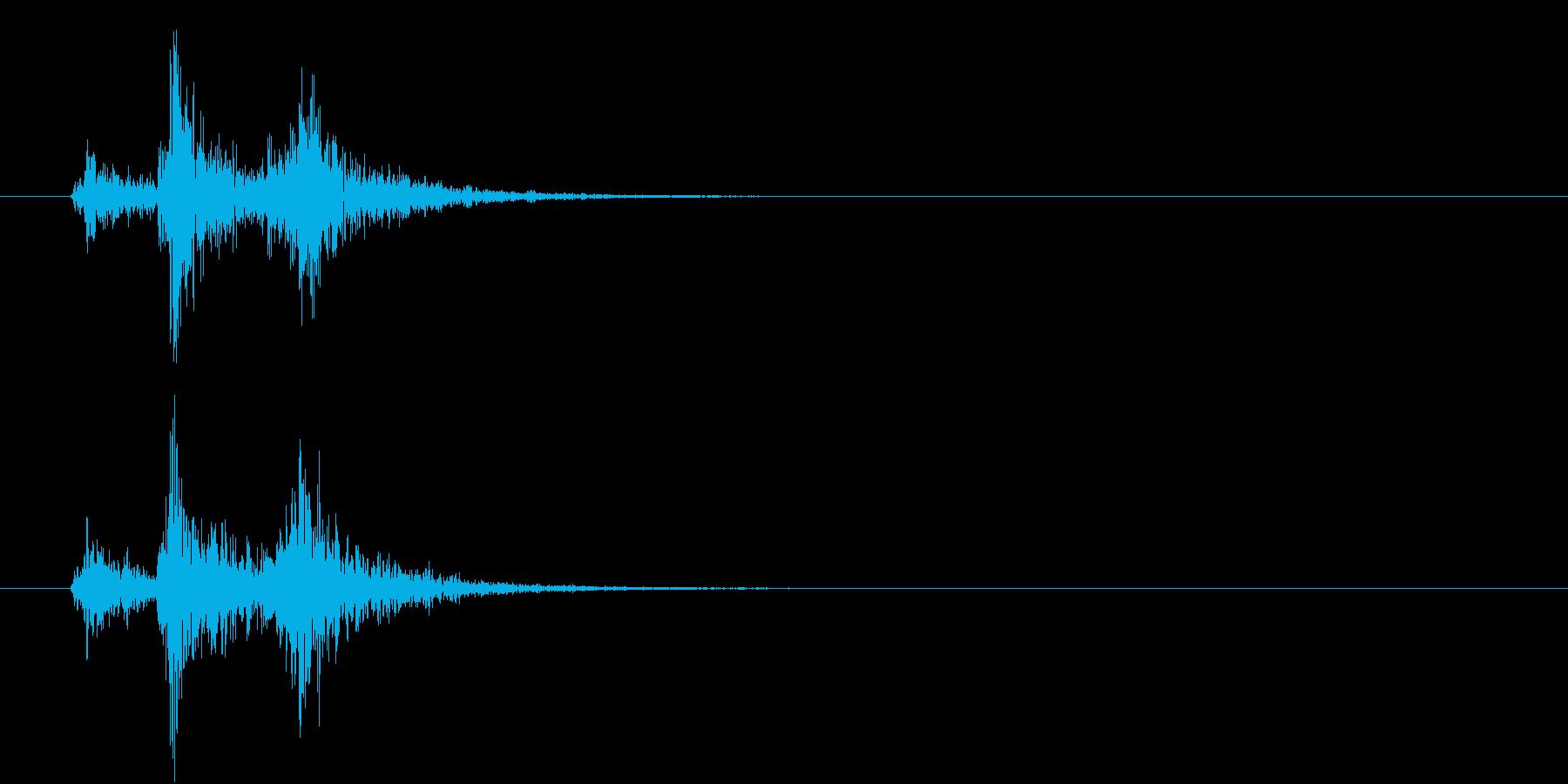 音侍「ドドドン!」歌舞伎の足拍子の連打音の再生済みの波形
