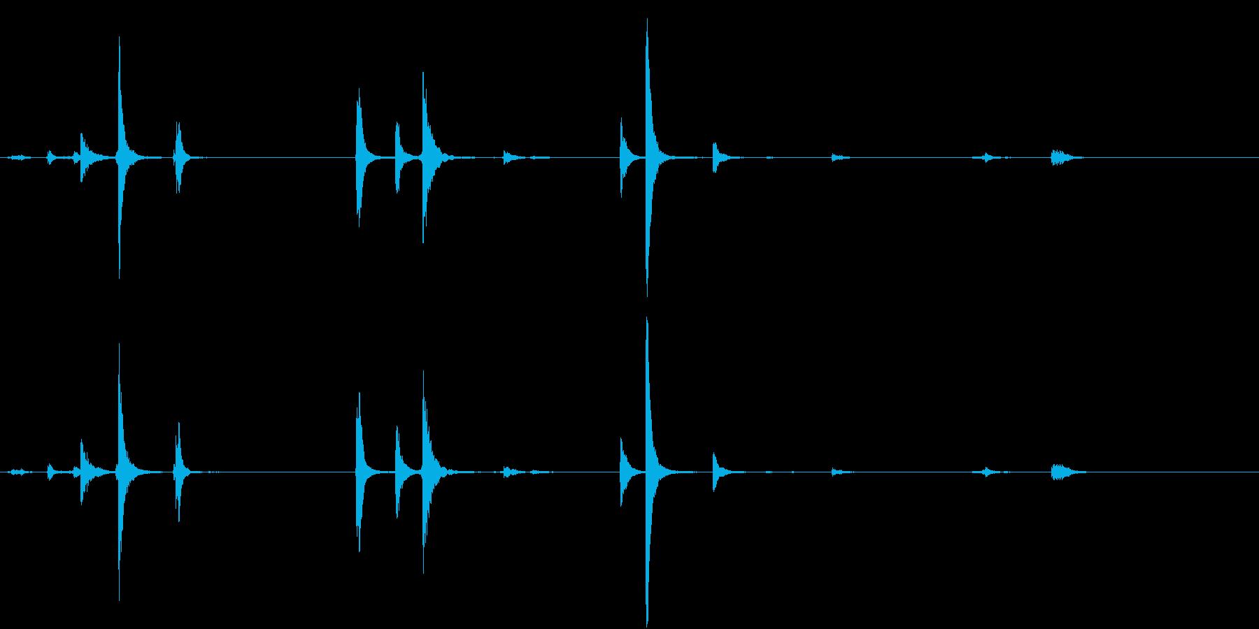 【生録音】猛獣を繋ぐような重厚な鎖の音1の再生済みの波形