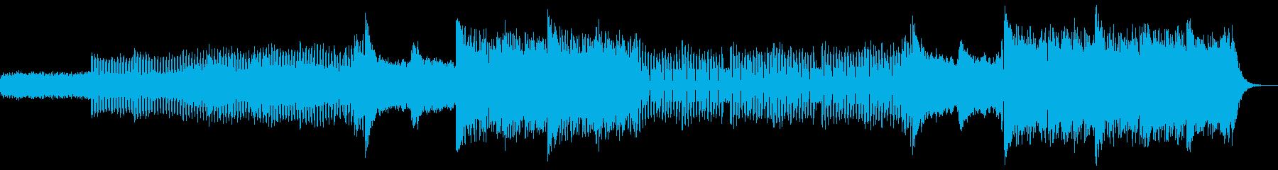宇宙感のある壮大でシネマティックな重い曲の再生済みの波形