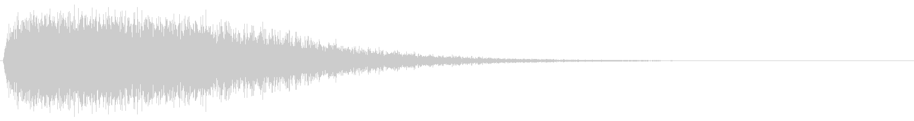 ビッグ残響メタルヒット6の未再生の波形