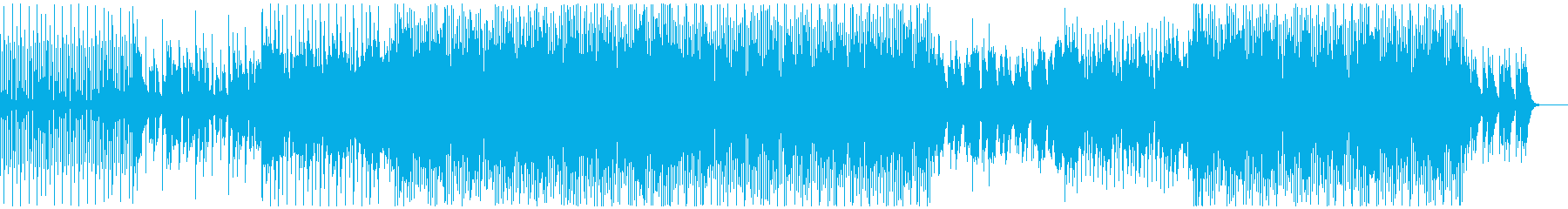 ハウスミュージック1の再生済みの波形