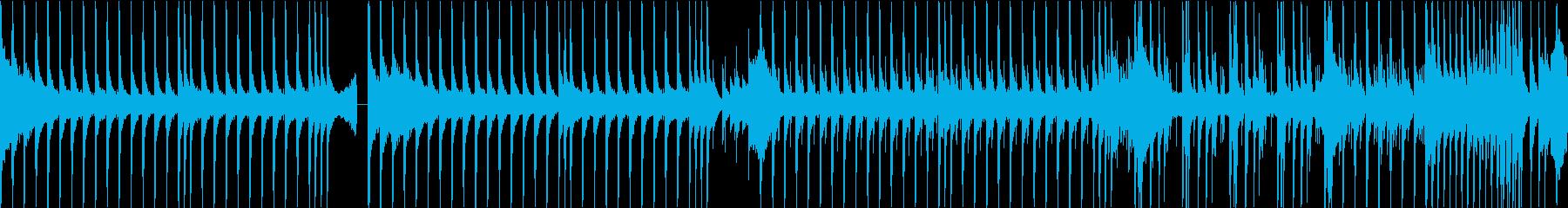 トレンド感を意識したリズムループの再生済みの波形