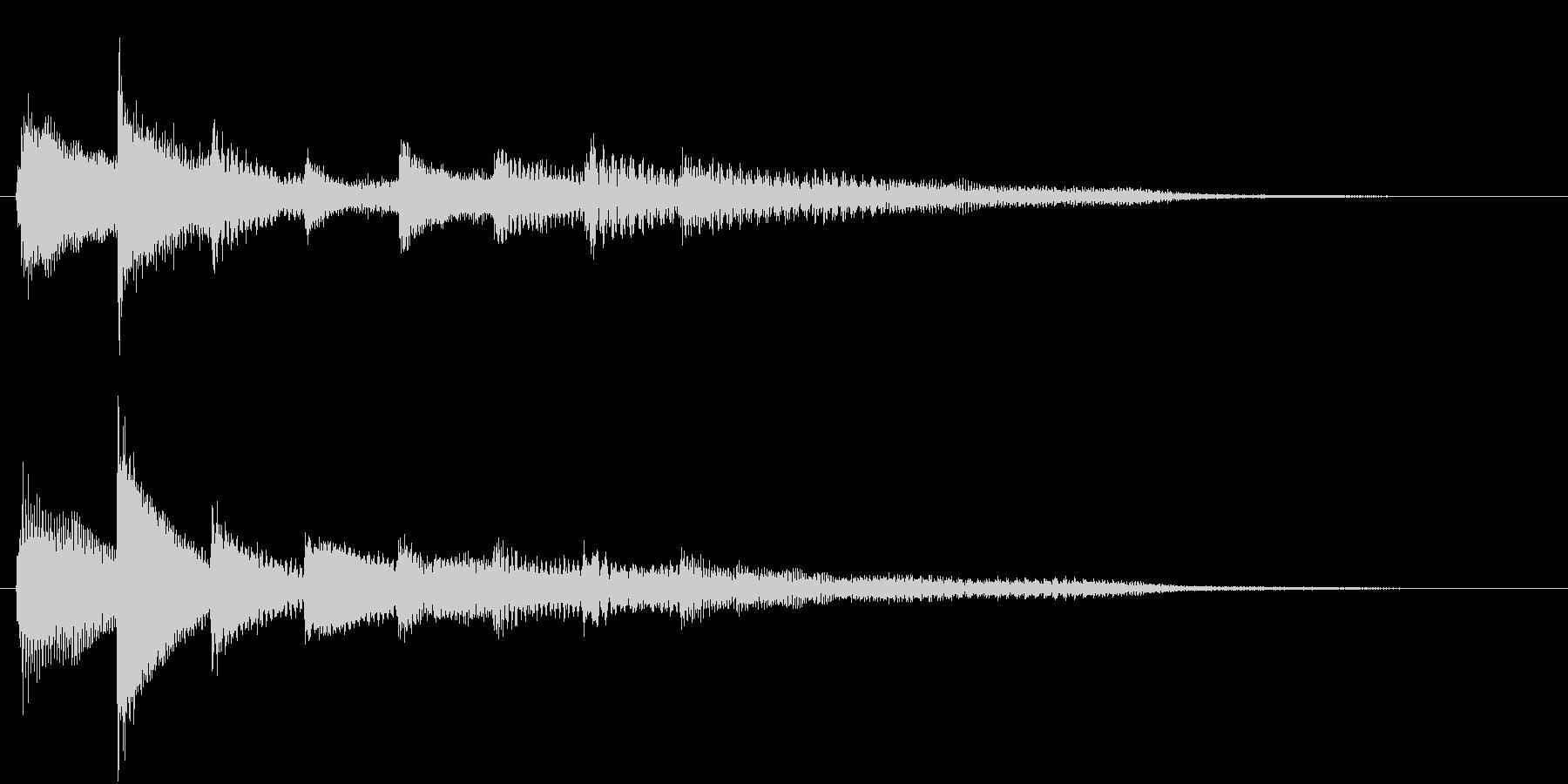 ピアノ転回音14・サウンドロゴの未再生の波形