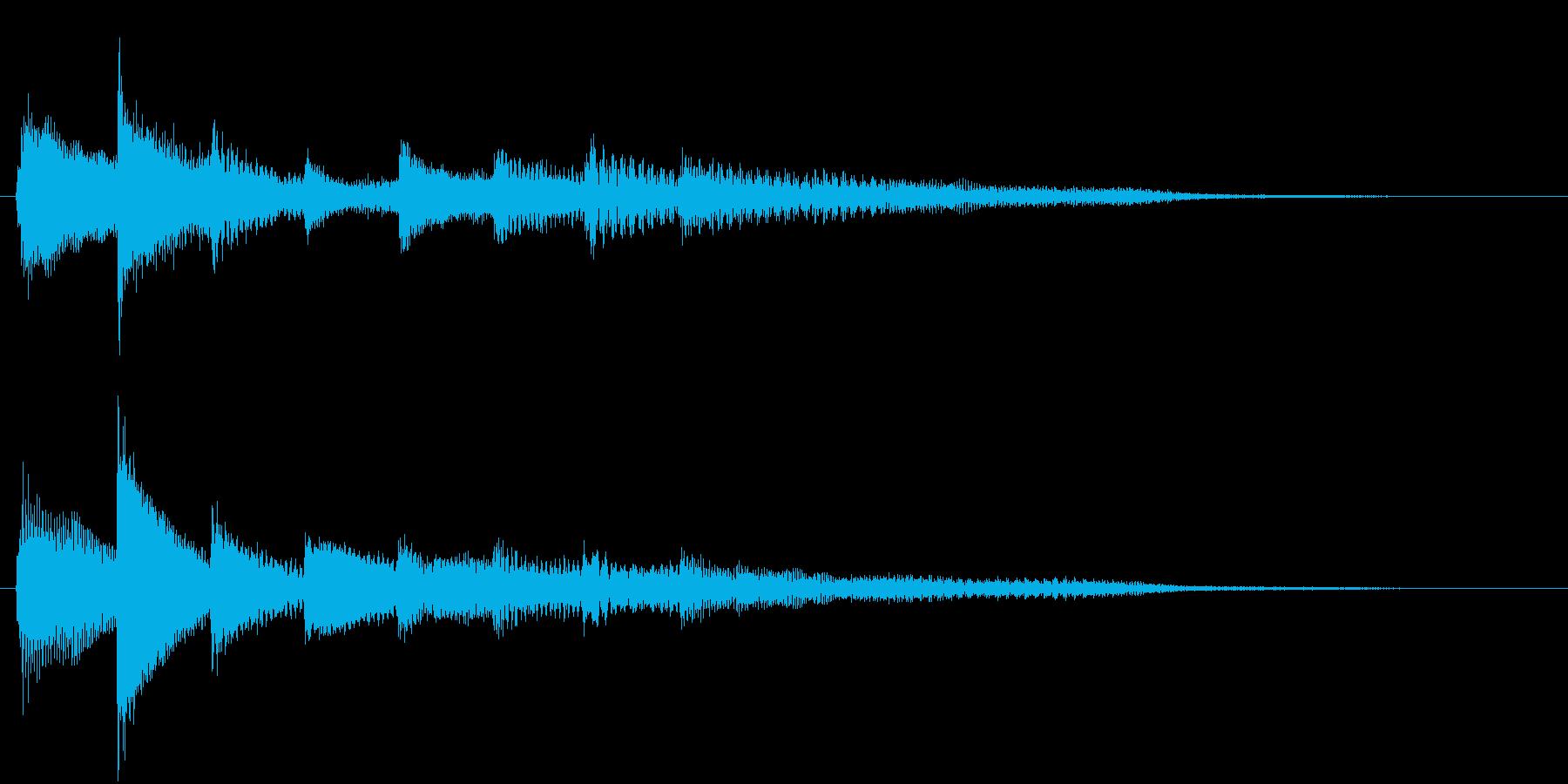 ピアノ転回音14・サウンドロゴの再生済みの波形