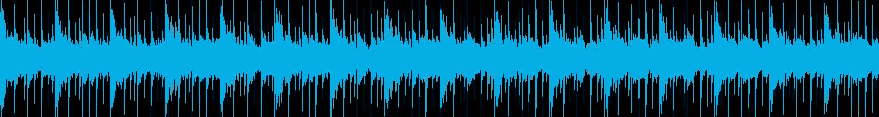 ファンキーなループ素材の再生済みの波形