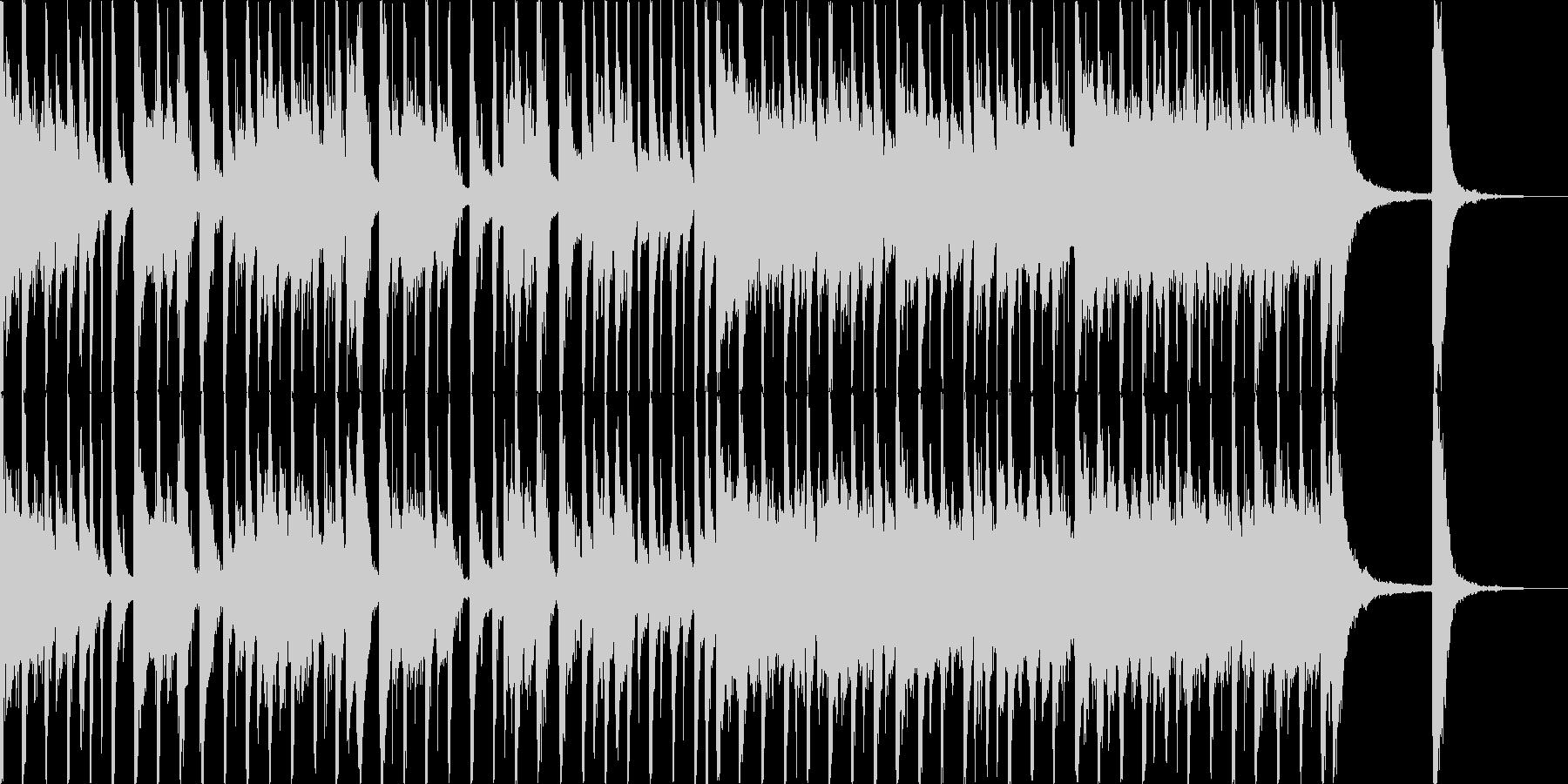 ダイナミックなポップスの未再生の波形