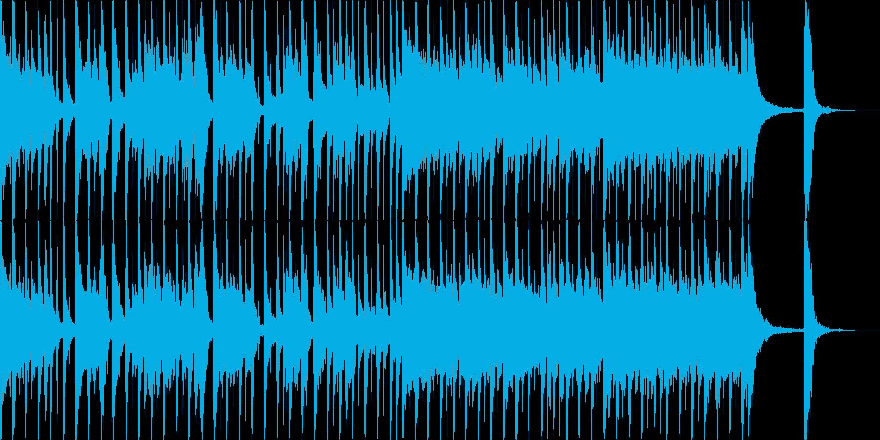 ダイナミックなポップスの再生済みの波形