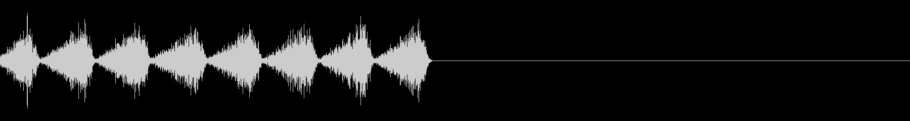 カサカサカサッ(虫/カードシャッフル)の未再生の波形