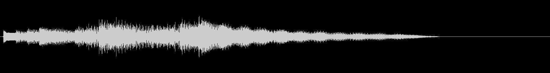 穏やかな音色のギターによる場面転換音の未再生の波形