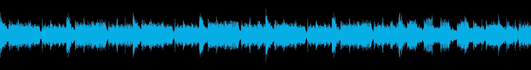 ループ仕様、タイトル画面のようなBGMの再生済みの波形