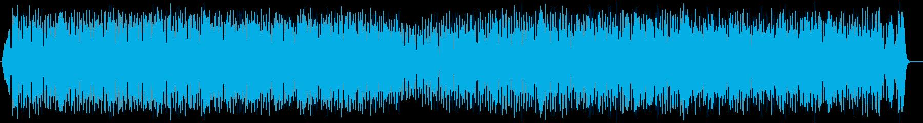 アップテンポのテクノ系ポップスの再生済みの波形