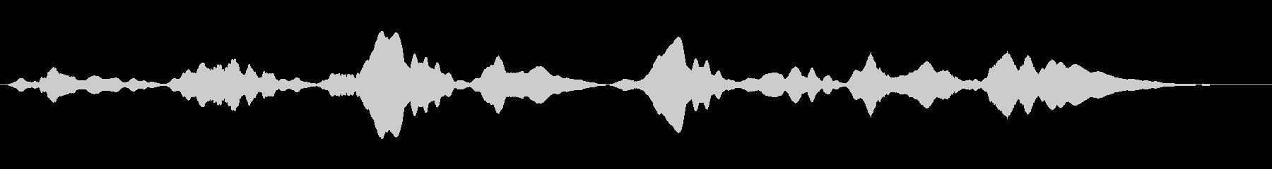 劇伴 謎めいたギターアンビエントの未再生の波形
