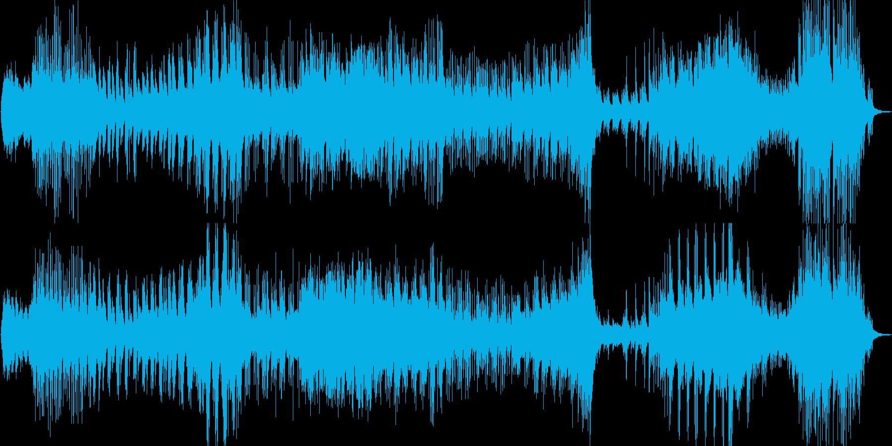 ピアノ曲 若干暗いかなーの再生済みの波形