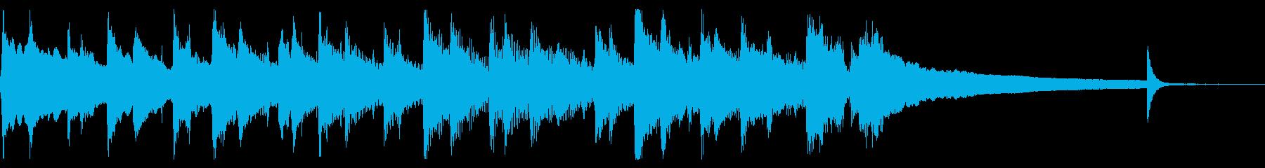 ほのぼの可愛いオープニング曲の再生済みの波形
