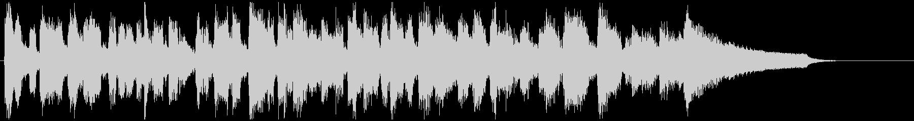 ショー的なジャズサックスの15秒ジングルの未再生の波形