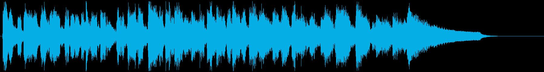 ショー的なジャズサックスの15秒ジングルの再生済みの波形