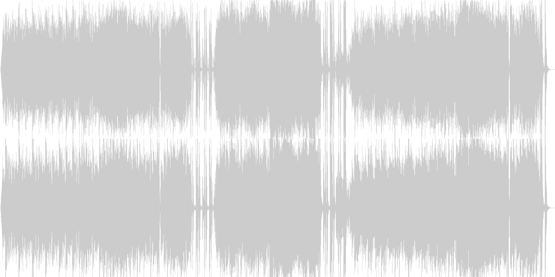エキゾチックなヴァイオリン曲の未再生の波形