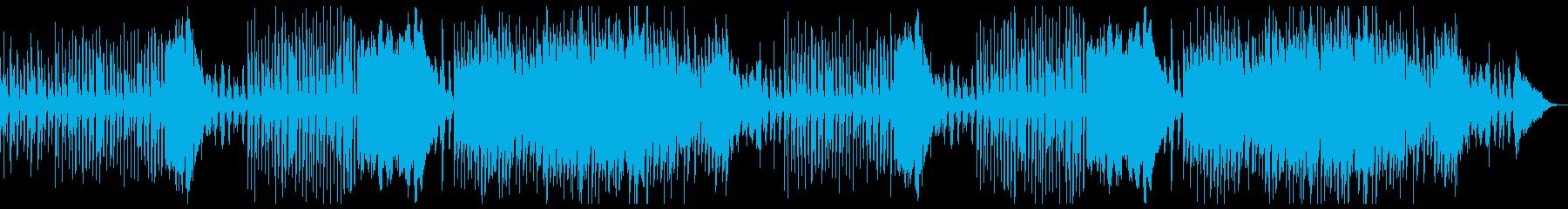 ピアノとストリングスの明るめ推理・劇伴の再生済みの波形