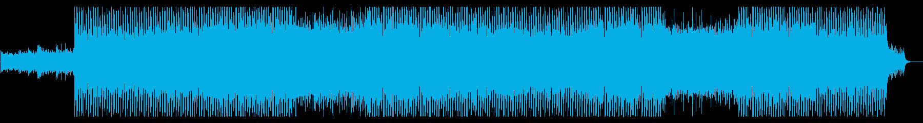 アップテンポで疾走感がある戦闘系BGMの再生済みの波形