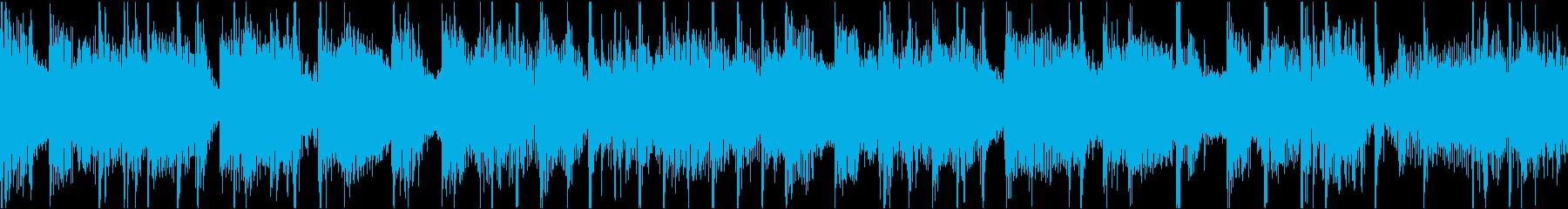 ゆっくりめな戦闘シーンの再生済みの波形
