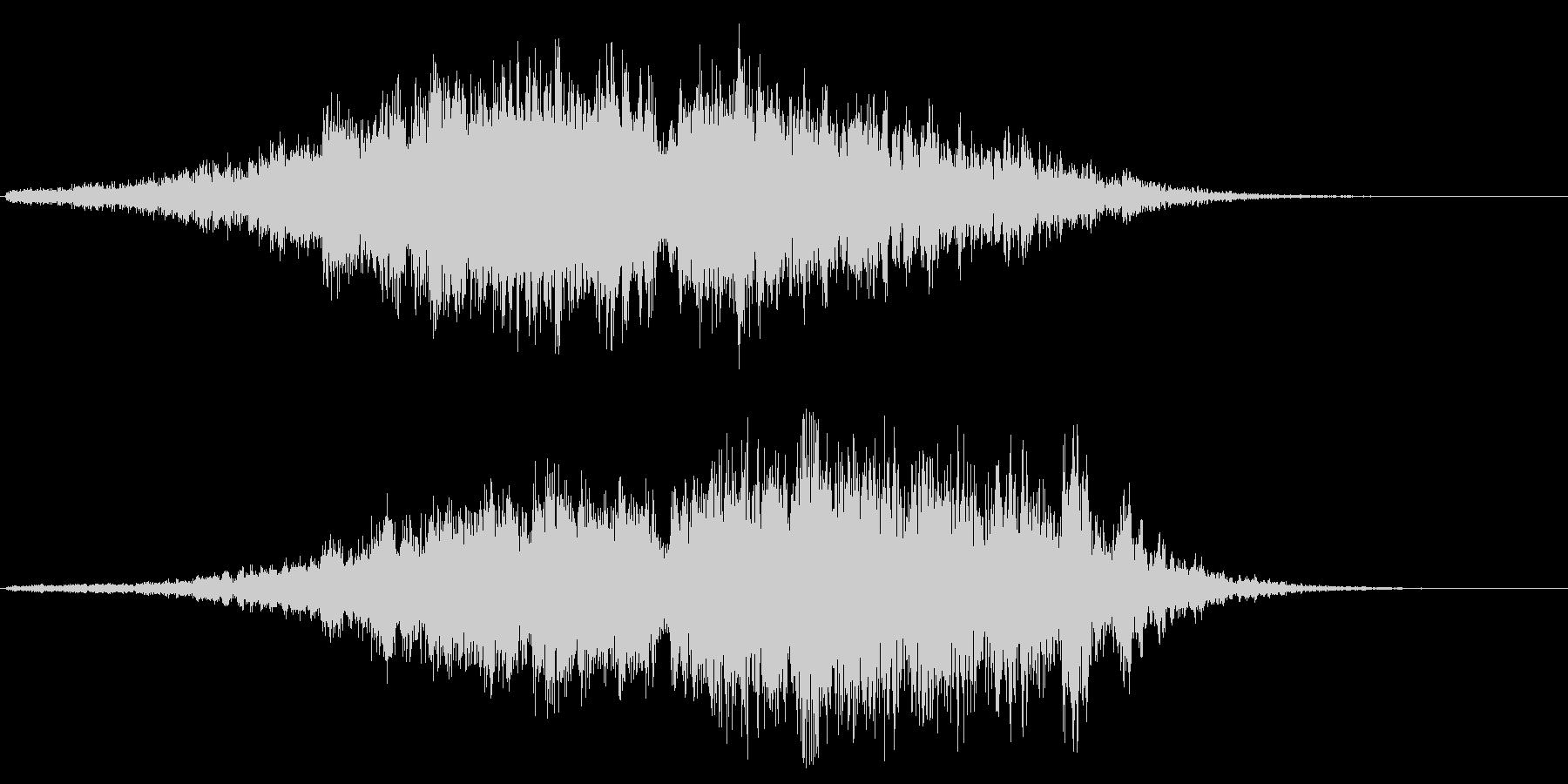ヒュイーチャコォーン(未知の高速通過音)の未再生の波形