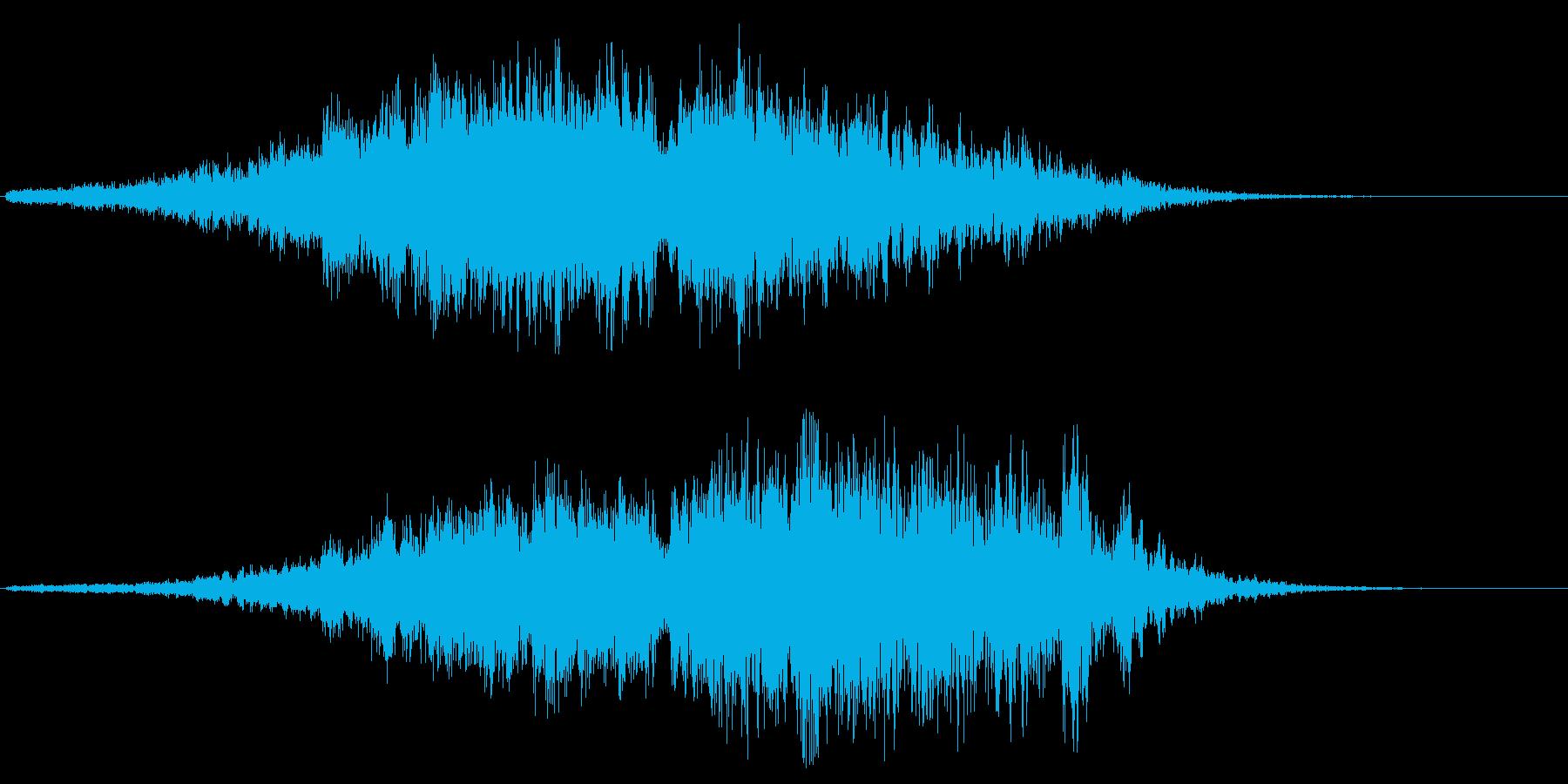 ヒュイーチャコォーン(未知の高速通過音)の再生済みの波形