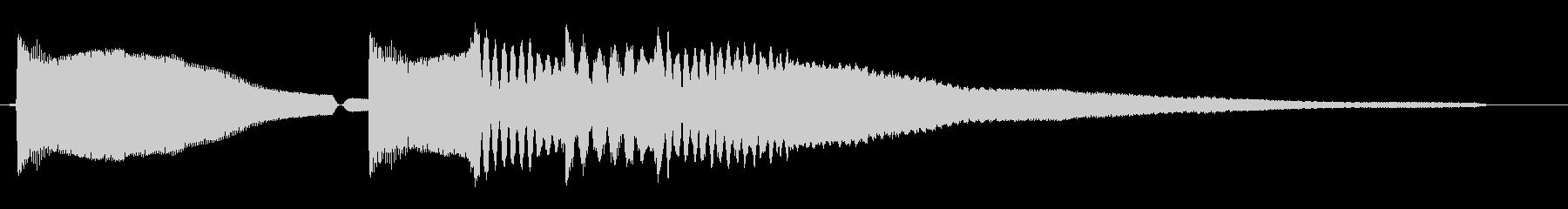 ポンピポポピ〜ン(弾むようなチャイム音)の未再生の波形