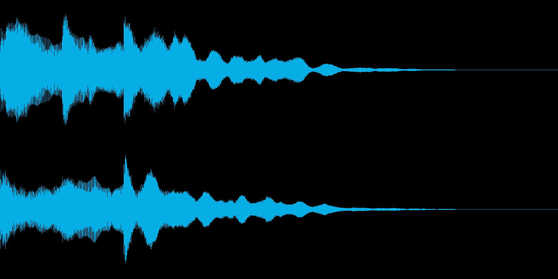 オープニング用サウンドロゴ67の再生済みの波形