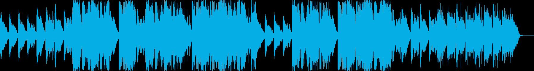 緊張感のあるピアノとベルが特徴的な曲の再生済みの波形