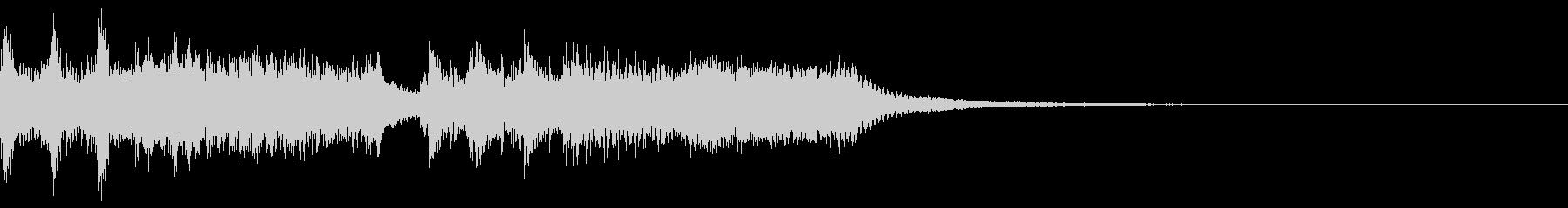 効果音入りのベートーベン「運命」の未再生の波形