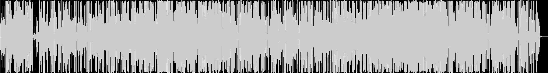 ハウスロック仕立てのガットギターサウンドの未再生の波形