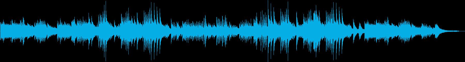 しっとりと優雅に弾いた美しいピアノBGMの再生済みの波形
