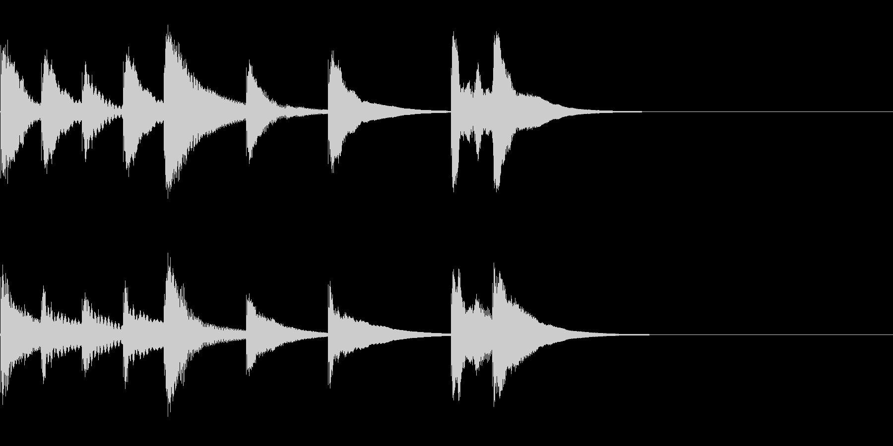 かわいい木琴の3秒ジングル!!の未再生の波形