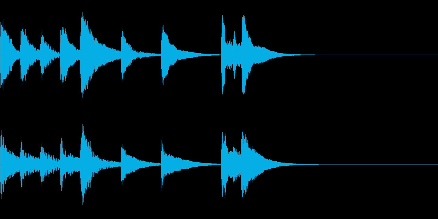 かわいい木琴の3秒ジングル!!の再生済みの波形