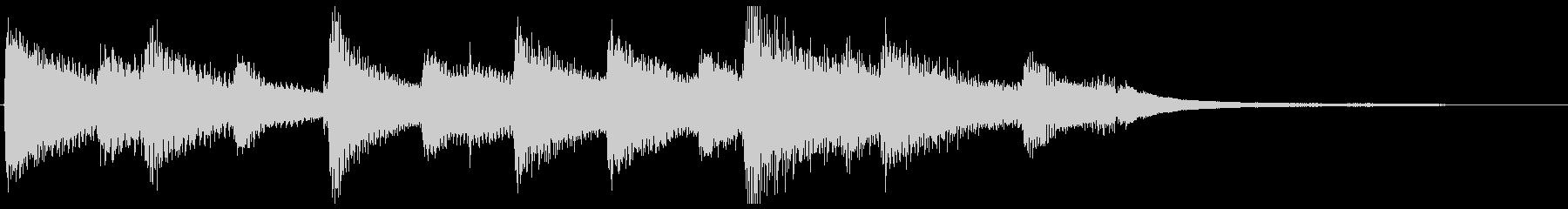 ピアノによるしんみりとしたジングルの未再生の波形